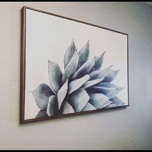 Other - Large Boho Succulent Canvas